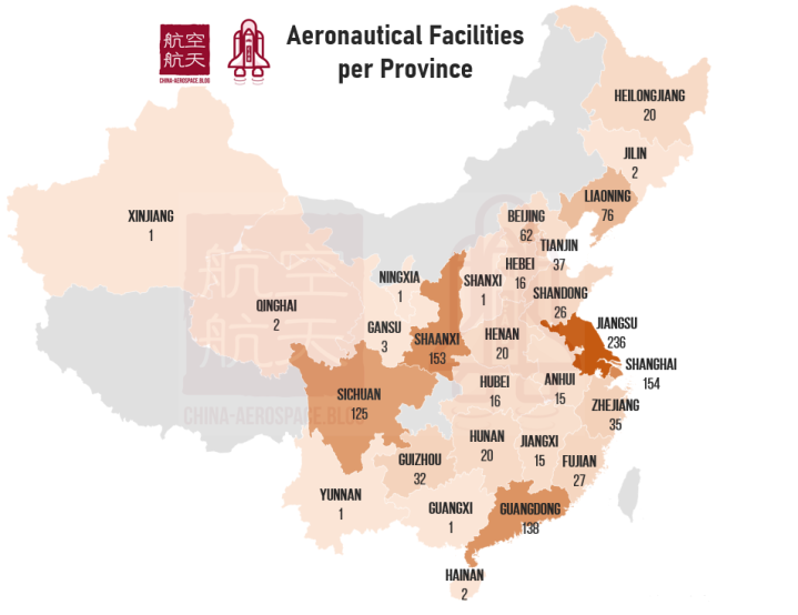aeronautical facilities per province CAB